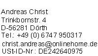 Impressum der Seite BU-Guenstig.de